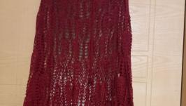 Вязаная ажурная юбка ′Ананас′