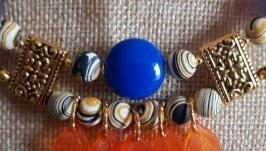 комплект, колье, серьги, set, necklace, earrings