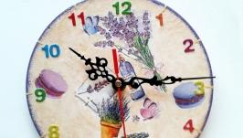 Настенные часы шебби шик Прованс беж маленький