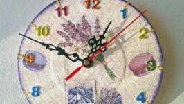 Настенные часы шебби шик Прованс маленький