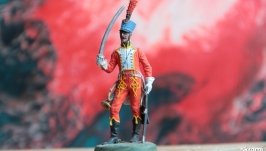 The tin soldier. Trumpeter of the 5th Hussar Regiment. France, 1812.