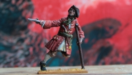 The tin soldier. Pirate, 18th century.
