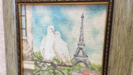 The picture ′Paris′ (cross-stitch embroidery)