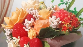Bouquet-cascade with soap hand made