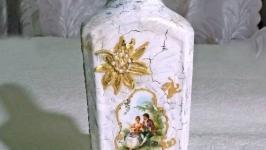 Декоративная бутылка шебби шик Рандеву 2