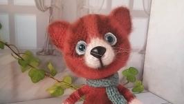 Рыжий кот- вязаная игрушка