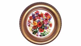 Декоративная тарелка Цветы