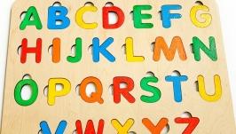 дитячий пазл, подарунок дитині, сортер, деревянні іграшки, алфавит