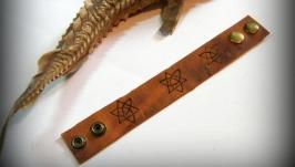 Браслет з натуральної шкіри Кельтські мотиви