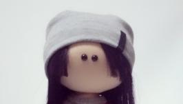 Кукла тильда текстильная интерьерная ′Девочка турист′