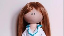 Doll Girl Handmade. Individual Doll Tilda Rag Doll Portrait Doll Gift
