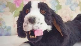 подвижная игрушка щенок спаниеля