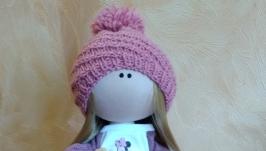 Кукла интерьерная текстильная тильда ′Светловолосая девочка′ ручной работы