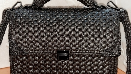 Knitted bag ′Black Queen′