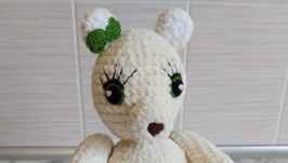 Amigurumi bear, bear constructor, crochet toy, developing toy
