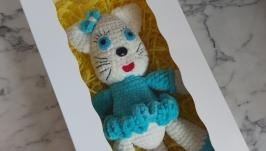 Girls gift box birthday, gift box for girls birthday, crochet cat