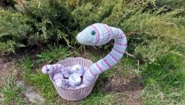 Snake family amigurumi