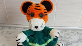 Amigurumi tiger, soft plush tiger