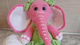 Amigurumi elephant, crochet toy elephant