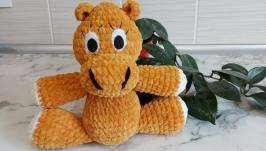 Amigurumi hippo, hippo baby toy