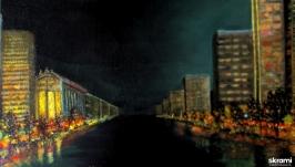Ночной проспект  The night avenue