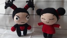 Вязаная куколка Пукка и Гару