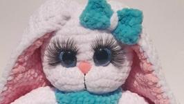 Плюшевая зайка-куколка