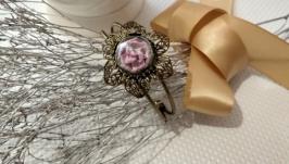Винтажный авторский браслет ′Роза в шаре′