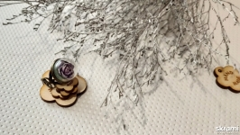 Винтажное авторское кольцо ′Роза в шаре′