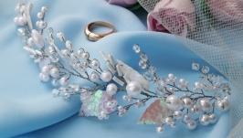 Свадебная веточка для прически невесты