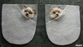 Декоративные карманы. Котята.
