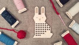 Вышивальная дощечка ′Кролик′ Вышивка для начинающих Вышивка для детей