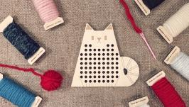 Вышивальная дощечка ′Кот′ Вышивка для начинающих Вышивка для детей