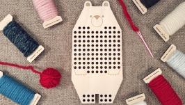 Вышивальная дощечка ′Медведь′ Вышивка для начинающих Вышивка для детей