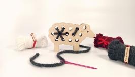 Вязальная дощечка ′Овечка′ Вышивка для начинающих Вышивка для детей