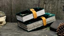 Блокнот під старовину в обкладинці з велюру