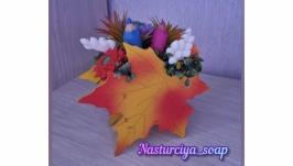 Сувенирное мыло цветочная композиция ′Осенний вихрь′