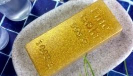 Мыло ручной работы ′Слиток золота′