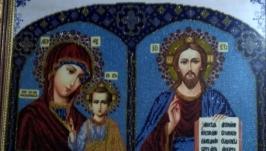 Икона вседержитель и матерь божья