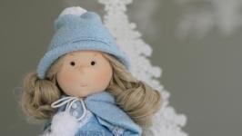 Анастасия интерьерная текстильная кукла .