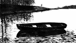 Пейзаж с лодкой 3  Landscape with a Boat 3