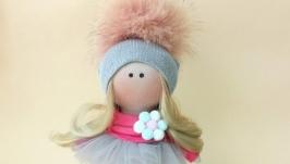 Кукла ручной работы. Кукла текстильная в фатиновой юбке.