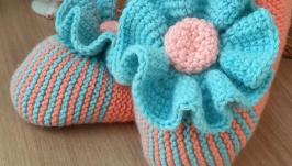 Тапочки-носочки ′Цветы′