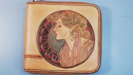 Wallet with art nouveau illustration