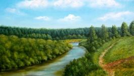 Иня утром  Inya River in the Morning