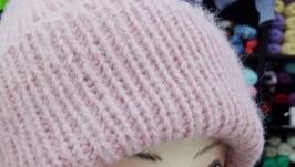 Тёплая шапочка  из ангоры.