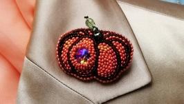 Pumpkin Brooches Unisex Halloween Brooch Pin.
