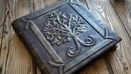 Винтажный блокнот с деревом