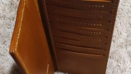 Кожаный кошелек лонгер