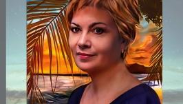 Цифровой портрет  видео рисунок  средняя прорисовка
